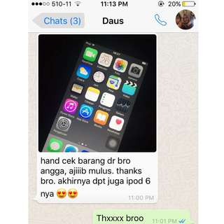 Testimonial: iPod Touch 6th Generation