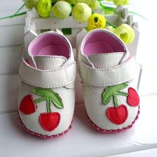 小市民倉庫-櫻桃牛皮休閒鞋-學步鞋-寶寶鞋-幼兒鞋-磨砂底-德國專業設計-真皮童鞋-粘扣設計-適合外出行走