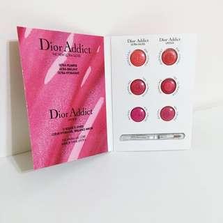 Dior迪奧唇卡6色試用品