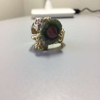 Watermelon Ruby! SS Ring