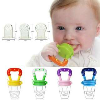 3 Size Baby Feeder Food Chew Feeding Pacifier Soft Safety Baby Nipple Silicone Tool Fruit Juice
