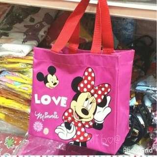 正版迪士尼米妮大蝴蝶結 便當袋 手提袋 防水袋 才藝袋
