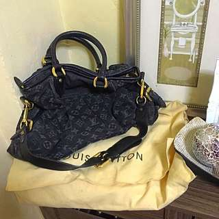 Auth Louis Vuitton Monogram Denim Neo Cabby 2way Shoulder Hand Bag