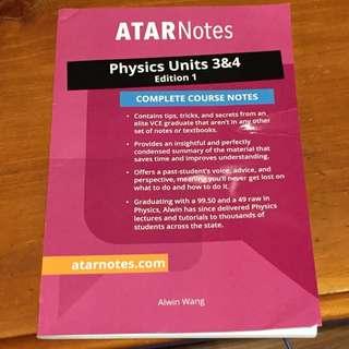 ATAR NOTES Physics 3/4 Revision guide