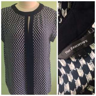 The Excecutive Navy Blouse