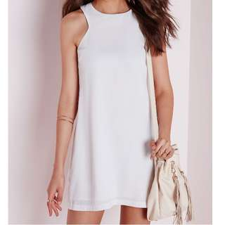 missguided white shift dress