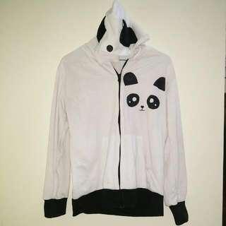Jacket Panda Putih Lucu Cute
