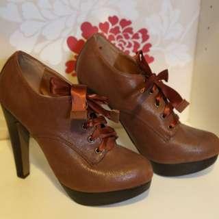 Miss Selfridge Tan Ankle Boots