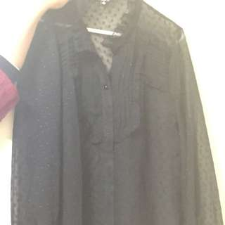 Black Shirt Size 14