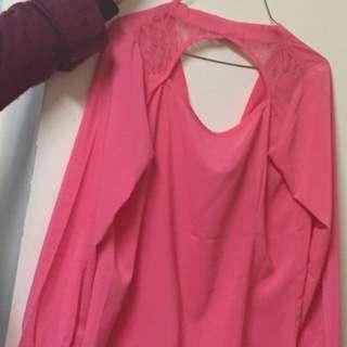 Pink Shirt Size L