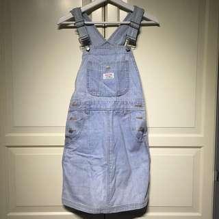 刷舊感牛仔吊帶裙