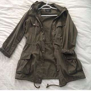 Camel Or Green Military Jacket