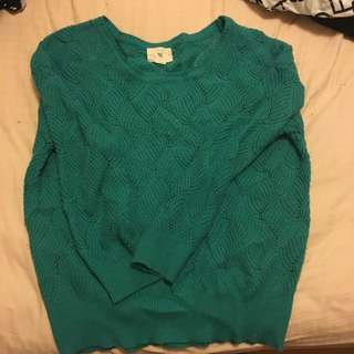50%綠色毛衣