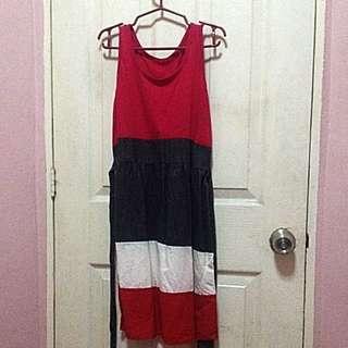 Top Bottom Red Dress