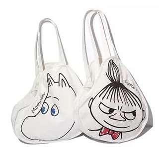 0927 Moomin 嚕嚕米肩背手提帆布包