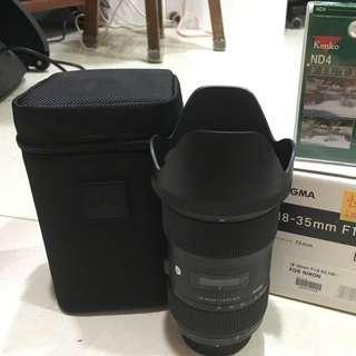 (降500)Sigma 18-35 F1.8 公司貨 For Nikon