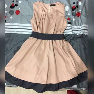 韓版氣質無袖小洋裝