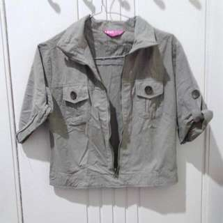 REPRICE Army Croptee Material As Parka (Atasan)
