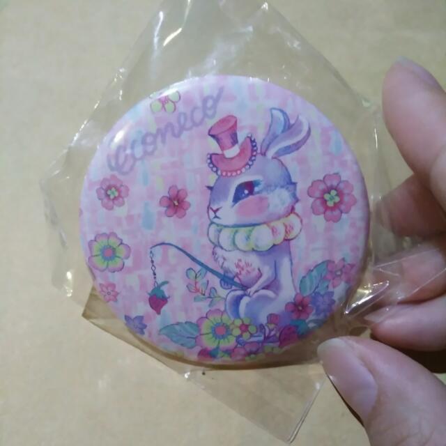 繪子貓徽章 兔子