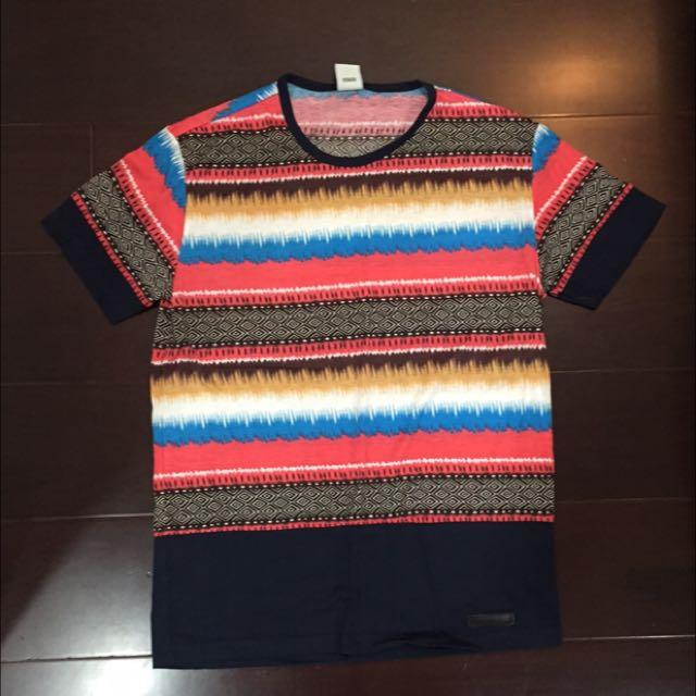圖騰 T-shirt 海灘風 男