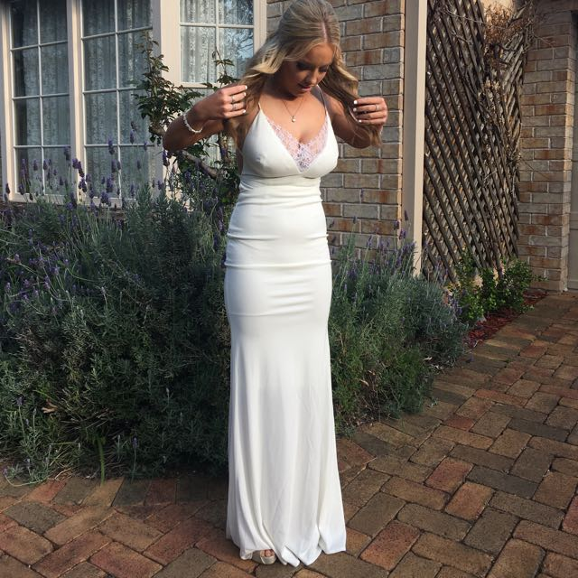 Abbyss by Abby white formal dress