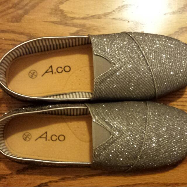 Aldo Silver Sparkle Shoes