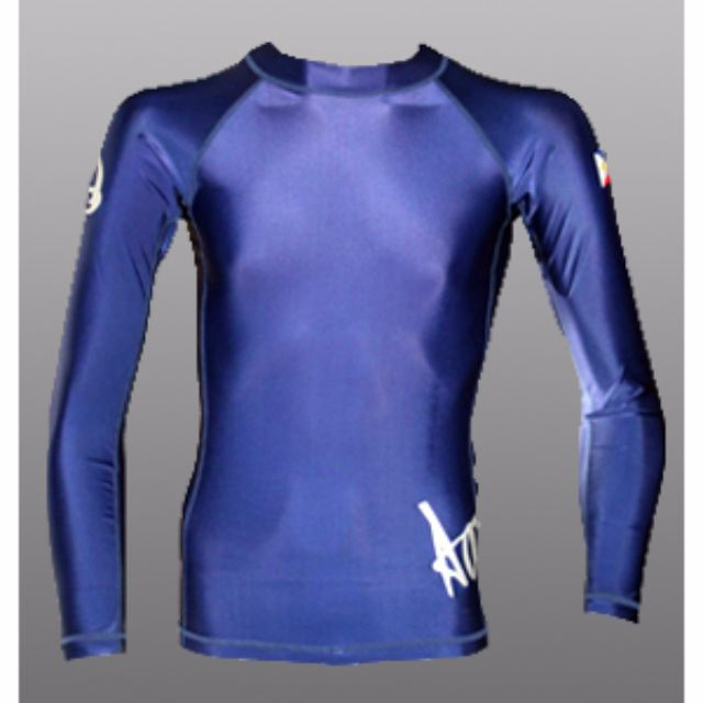 Aquamundo Long Sleeve Rash Guard (Blue) for scuba diving, freedive or surf