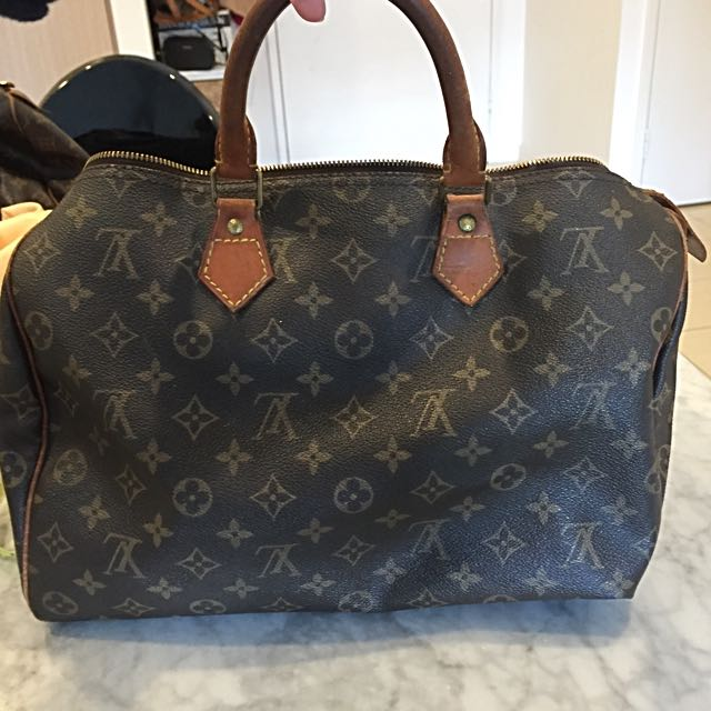 Authentic Vintage Louis Vuitton Speedy 35