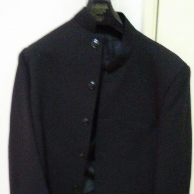 Blazer Kot Hitam Fesyen Lelaki Pakaian Di Carousell