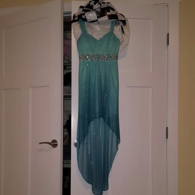 Blue Ombre High Lo Dress