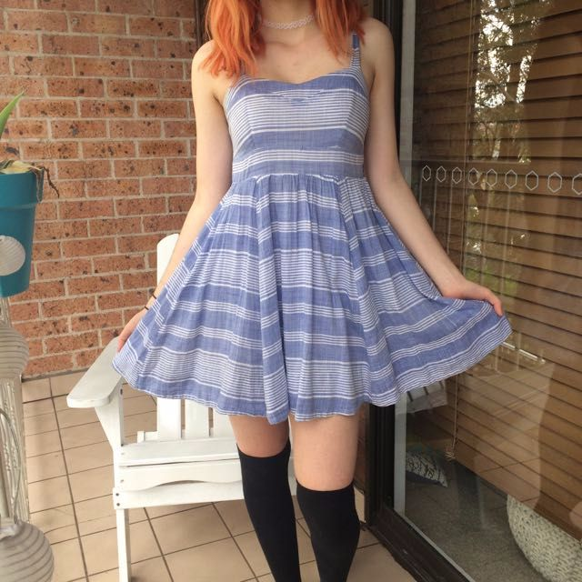 Blue Stripped Dress