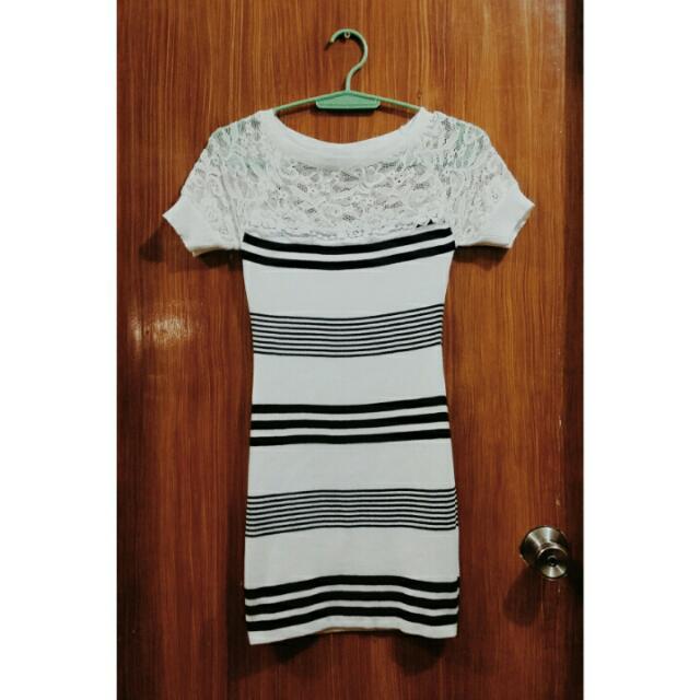 Bodycon Dress w/ Lace