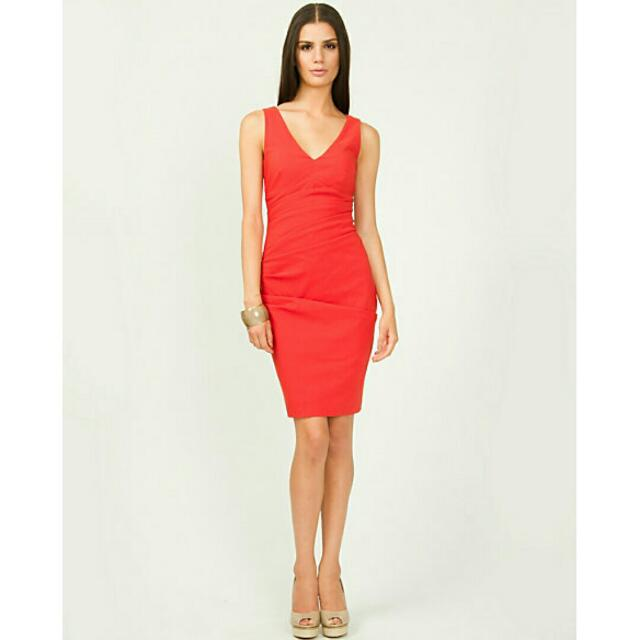 Brand New XXS Le Chateau Red Cocktail Dress