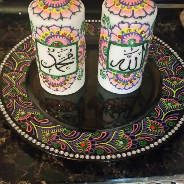 Calligraphy candles set