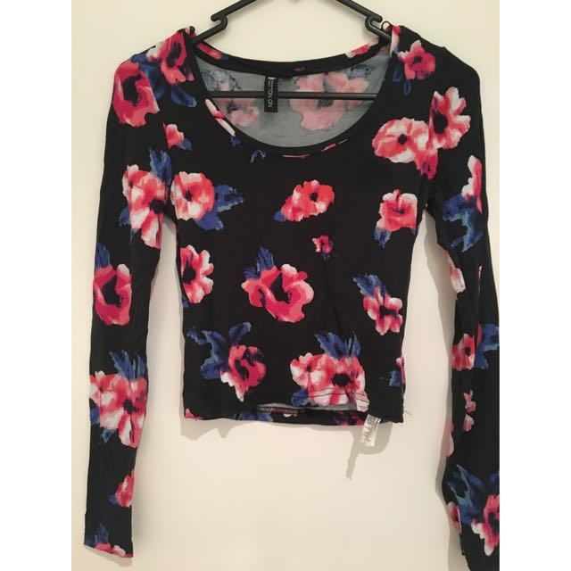 Cotton On Long Sleeve Crop Top