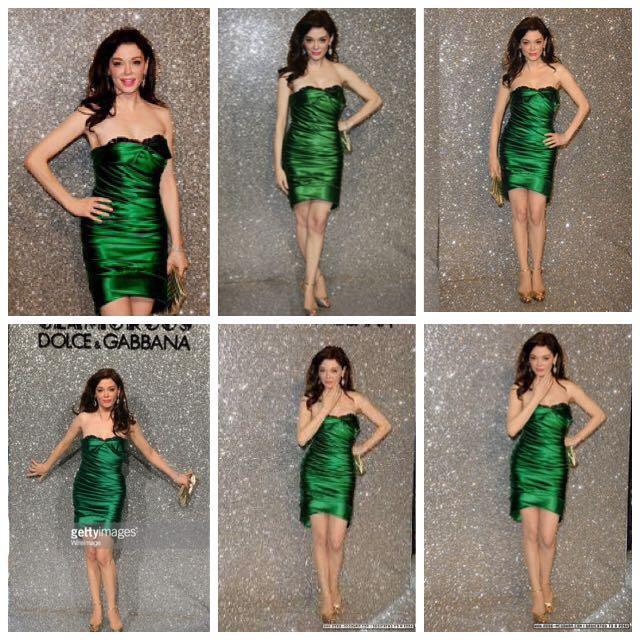 2711cf0c Dolce And Gabbana Ruched Stretch Satin Emerald Green Dress, Women's ...