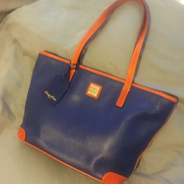 """Dooney & Bourke"" double strap purse! Navy and camel"