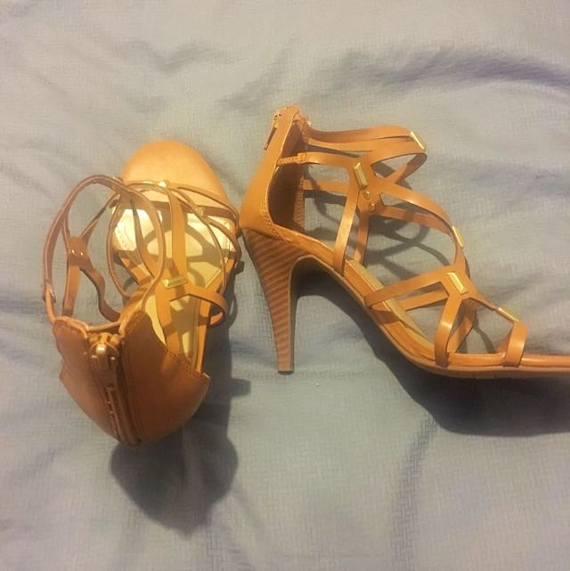 """Fergalicious"" strappy heels - size 7 1/2"