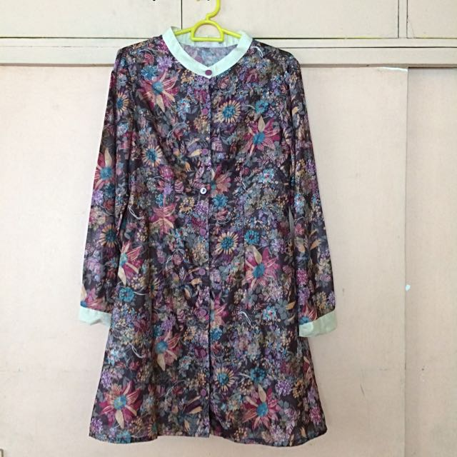 Floral Print Long Sleeves Dress