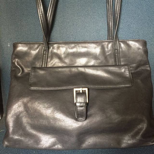 Genuine Leather Black Bag