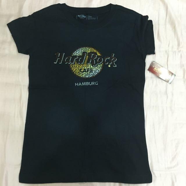 Hard rock 水鑽Tshirt