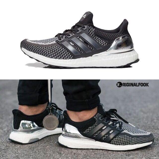 7cd76ec43ffa5 ... order instock adidas ultra boost ltd silver medal black mens fashion  footwear on carousell 7b15f 28030