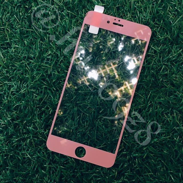 Iphone滿版粉高亢藍光玻璃保護貼😬