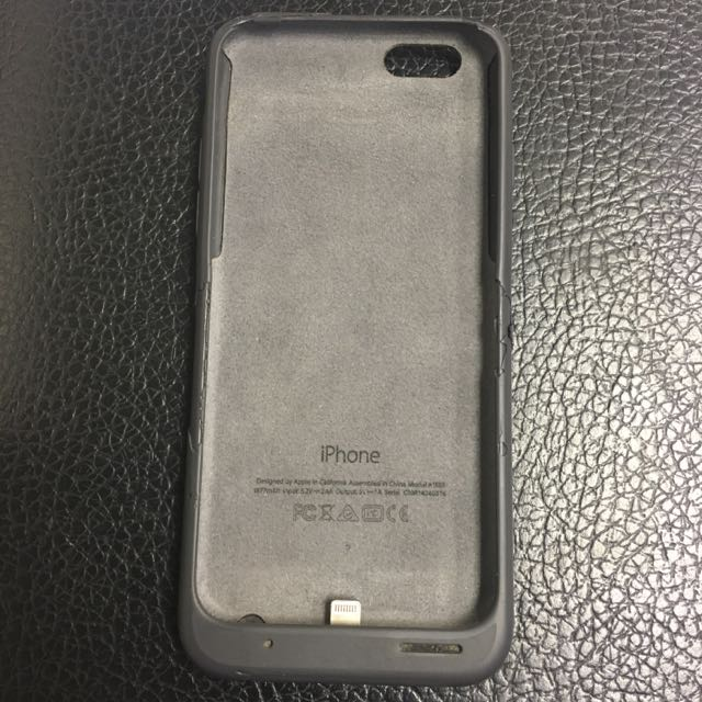 iPhone 6S Apple Smart Battery Case Charcoal Black