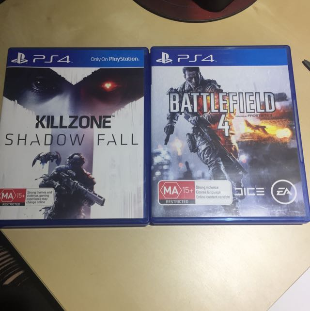 Killzone Shadow Fall and Battlefield 4 ps4 games