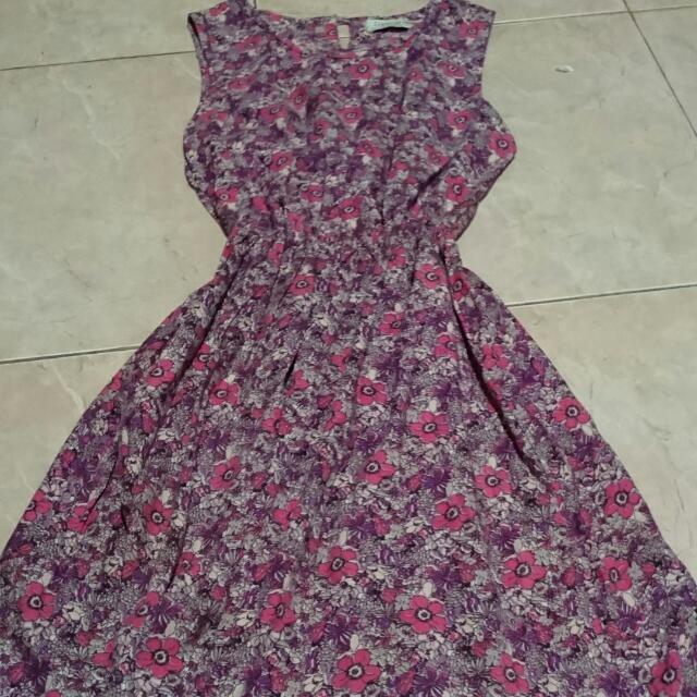 Lime Flowery Dress