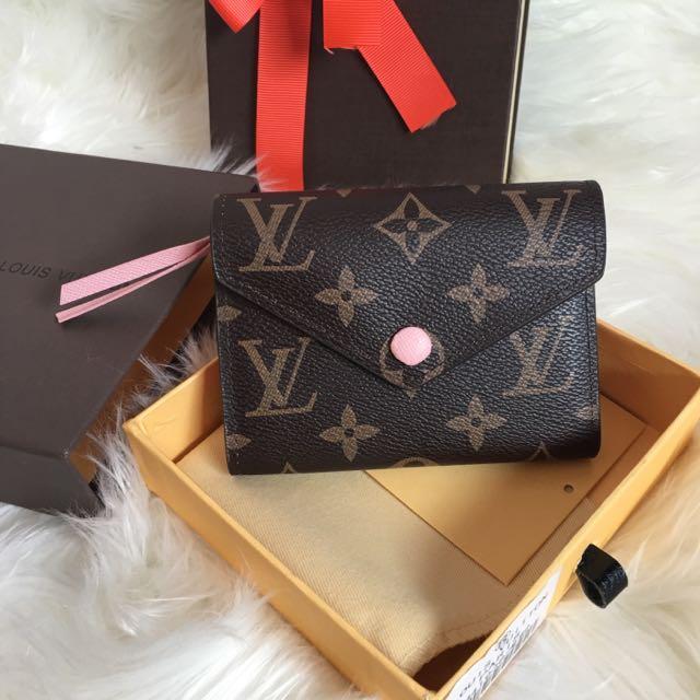 Louis Vuitton Replica Wallet Purse Compact Zippy Fold M41938 Rose Ballerina LV Monogram Brown Light Baby Pink Victorine