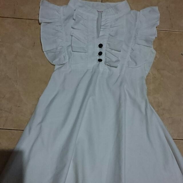 REPRICE Mini Dress White