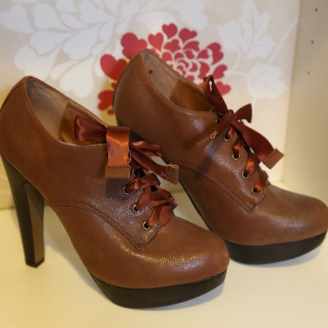 Miss Selfridge Tan Ankle Boots