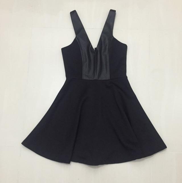 Mossman Leather Panel Dress Size 6